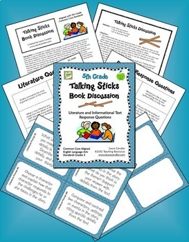 5th Grade CCSS Reading Discussion Activity and Task Cards Combo