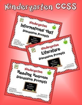 Kindergarten CCSS Reading Discussion Bundle ( Ideal for ESL)
