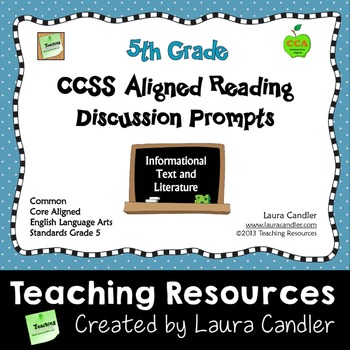 Reading Discussion Prompts - 5th Grade CCSS