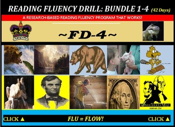 CCSS: Reading Fluency Drills 1-4. BUNDLED with Pre-Reading Prediction Graphics!