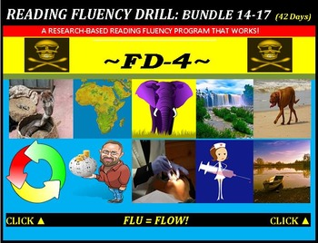 CCSS: Reading Fluency Drills 14-17. BUNDLED All with Prediction Graphics!