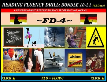 CCSS: Reading Fluency Drills 18-21. BUNDLED All with Predi