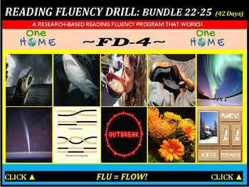 CCSS: Reading Fluency Drills 22-25. BUNDLED All with Prediction Graphics!