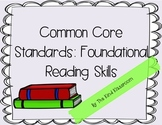 CCSS Reading Foundational Skills