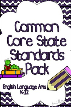 CCSS Reading Literature 6-8 Posters, Booklets and Binder R
