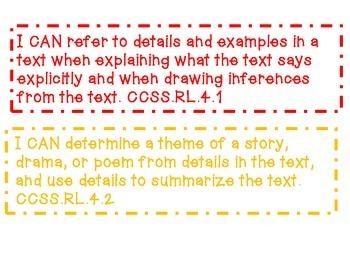 CCSS Reading Literature Grade 4