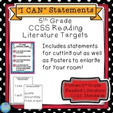 CCSS Reading Literature Standards 5th Grade