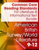 CCSS Reading: Literature and Informational Texts Resource Bundle (9-12 Grades)