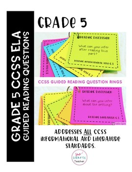 Guided Reading Question Rings: Grade 5