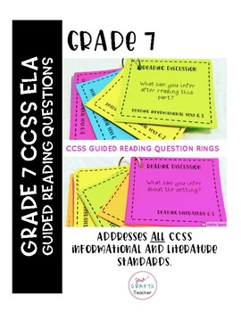 Guided Reading Question Rings: Grade 7