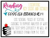 CCSS Reading Standards - 7th Grade
