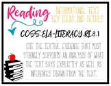 CCSS Reading Standards - 8th Grade