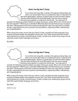 CCSS Reading Standards: Informational Text Resource--British Lit (Grades 9-12)