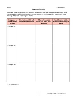 CCSS Reading Standards: Informational Text Resource (Grades 9-12)