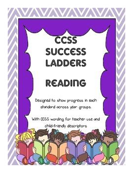 CCSS Reading Standards Success Ladders Combined Teacher/Child Versions