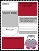 Owl Theme SWBST Reading Summary w/ sticky note template -