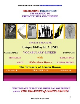 CCSS: Reading, Writing, & Vocab  Unit-20: Supports The Treasure of Lemon Brown!