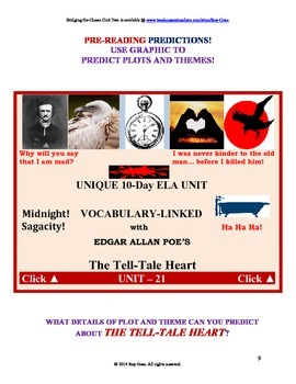 CCSS: Reading, Writing, & Vocab  Unit-21: Supports Poe's The Tell-Tale Heart!