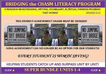 CCSS: ELA, Reading, & Vocab Units 1-4 BUNDLED: ALL WITH PR
