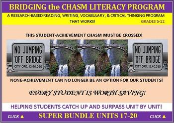 CCSS: ELA, Reading, & Vocab  BUNDLED UNITS 17-20: ALL WITH PREDICTION GRAPHICS!