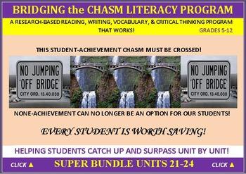 CCSS: ELA, Reading, & Vocab BUNDLED UNITS 21-24: ALL WITH PREDICTION GRAPHICS!
