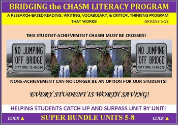 CCSS: ELA, Reading, & Vocab  Bundled Units 5-8: All WITH P