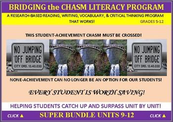 CCSS: ELA, Reading, & Vocab  BUNDLED UNITS 9-12: ALL WITH PREDICTION GRAPHICS!