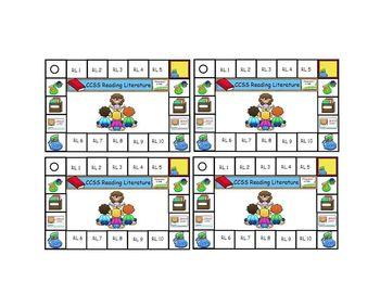 Common Core Reward Punch Cards Second Grade