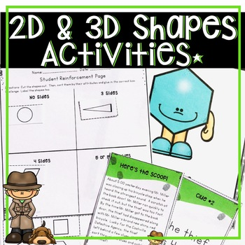 CCSS SHAPE 1 WEEK UNIT FOR 2ND GRADE CENTERS, PRINTABLES,