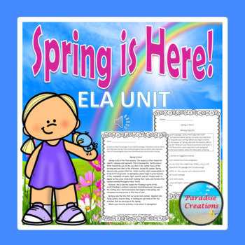 """CCSS """"SPRING IS HERE"""" TEXT-BASED WRITING ASSIGNMENT"""