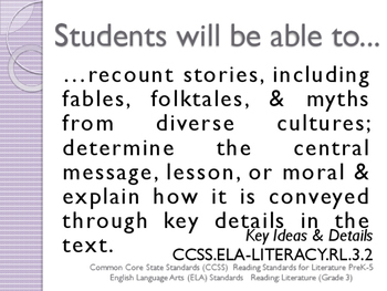 Common Core CCSS SWBAT Learning Goals Posters Grade 3 Reading Literature