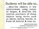 CCSS SWBAT Learning Goals Posters Grade K Math: Geometry