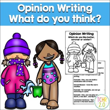 Opinion Writing Prompt Summer vs. Winter Seasons