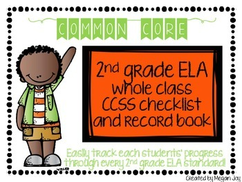 Second Grade Common Core (CCSS) Checklist: ELA