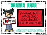 Second Grade Common Core (CCSS) Checklist: MATH