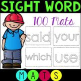 CCSS Sight Word Mats (100 Words)