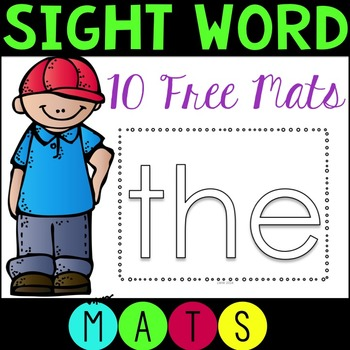CCSS Sight Word Mats FREE