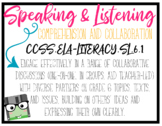 CCSS Speaking & Listening Standards - 6th Grade