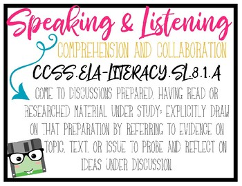 CCSS Speaking & Listening Standards - 8th Grade