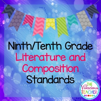 Common Core Standards Posters 9th/10th Grade Literature and Composition