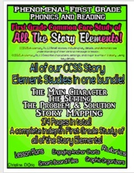 CCSS Story Element Bundle - Hundreds of pages!