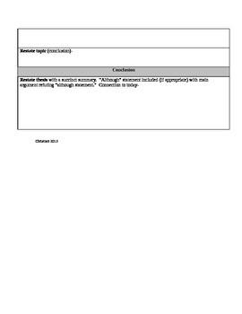 CCSS TBEAEAR Essay Outline