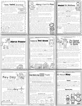 May Close Reading and Text Evidence {20 Passages Written at Four Levels}