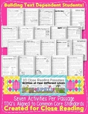 CCSS TDQ Text Evidence April Close Reading Comp Pack {100% Aligned}