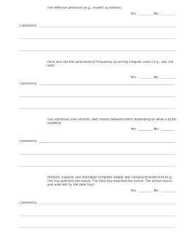 CCSS Teacher Questionnaire ~ Language ~ Grade 2