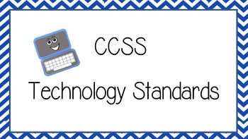 CCSS Technology Standards Poster Set for K-6 Great for Posting in Lab!
