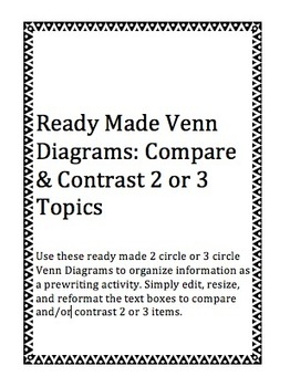 Printable venn diagram 2 circles with lines vatozozdevelopment printable venn diagram 2 circles with lines template for venn diagram with 2 circles remarkable ccuart Gallery