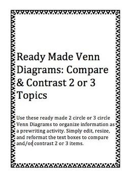 Venn Diagram Template: Grades 2-12