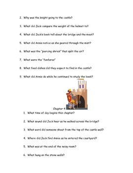 """CCSS Text Based Novel Questions """"Magic Tree House 2 Knight at Dawn"""""""