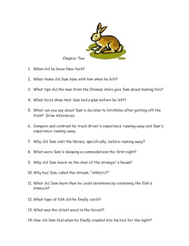 CCSS Text Based Novel Questions, My Side of the Mountain